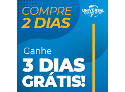 UNIVERSAL PROMO - 02 Dias | 02 Parques + 03 Dias Grátis - Park To Park Ticket